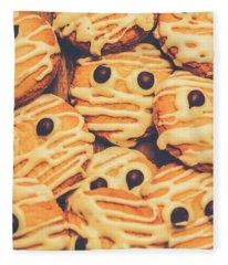 Decorated Shortbread Mummy Cookies Fleece Blanket