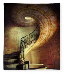 Decorated Spiral Staircase  Fleece Blanket