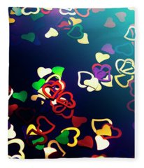 Decorations In Romance Fleece Blanket