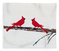 Decorative Cardinals A101216 Fleece Blanket