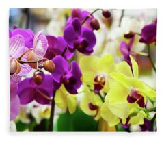 Decorative Orchids Still Life B82418 Fleece Blanket