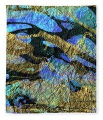 Deep Blue Abstract Art - Deeper Visions 1 - Sharon Cummings Fleece Blanket