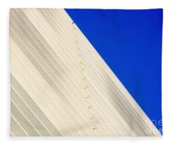 Deep Blue Sky And Office Building Wall Fleece Blanket