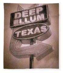 Deep Ellum Pink Fleece Blanket