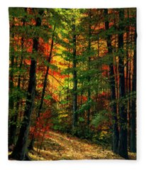 Deep In The Forest Fleece Blanket