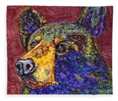 Deep In Thought Fleece Blanket