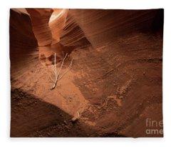 Deep Inside Antelope Canyon Fleece Blanket