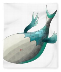 Deep Sea Fish Fleece Blanket