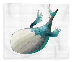 Deep Sea Fish Fleece Blanket