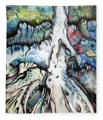Deeply Rooted IIi Fleece Blanket