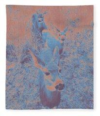 Deer #10 Fleece Blanket