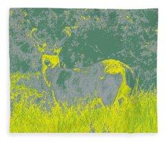 Deer #2 Fleece Blanket