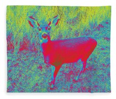 Deer #3 Fleece Blanket