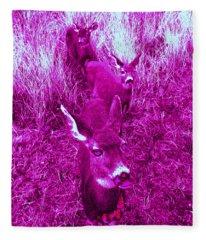 Deer #4 Fleece Blanket