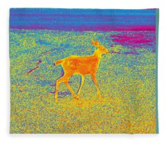 Deer #6 Fleece Blanket
