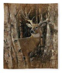 Deer - Birchwood Buck Fleece Blanket
