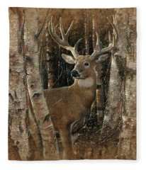 Deer - Birchwood Buck Fleece Blanket