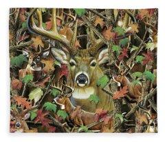 Deer Camo Fleece Blanket
