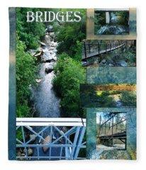 Deer Creek Bridges Fleece Blanket