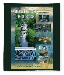 Deer Creek Bridges Fleece Blanket