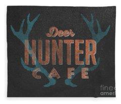 Deer Hunter Cafe Fleece Blanket
