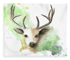 Deer II Fleece Blanket