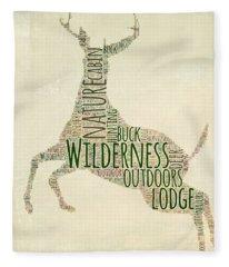 Deer Leaping Fleece Blanket