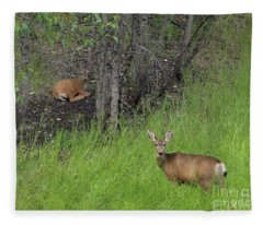 Deer Mom Fleece Blanket