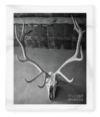 Deer Skull Fleece Blanket
