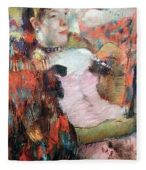 Degas At The Cafe Concert Fleece Blanket