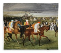 Degas At The Races Fleece Blanket