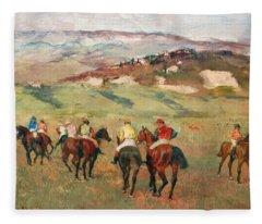 Degas Jockeys On Horseback  Fleece Blanket