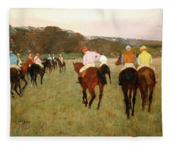Degas Race Hoses At Longchamp Fleece Blanket