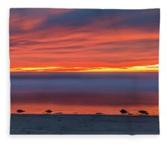 Del Mar-sunset Fading Light Fleece Blanket