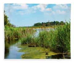 Delaware Marsh Fleece Blanket