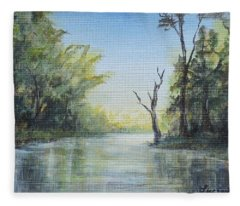 Delaware River  Fleece Blanket