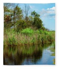 Delaware Waterway Fleece Blanket