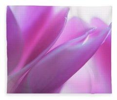 Delicate Beauty Of Cyclamen Flower Fleece Blanket