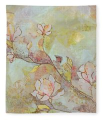 Delicate Magnolias Fleece Blanket
