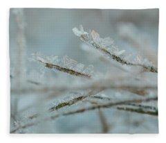 Delicate Morning Frost  Fleece Blanket