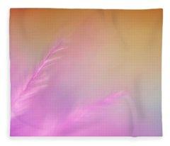 Delicate Pink Feather Fleece Blanket