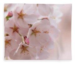 Delicate Spring Blooms Fleece Blanket