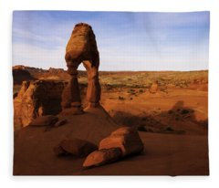 Delicate Sunrise Fleece Blanket