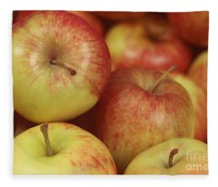 Delicious Apple Fruit Background Fleece Blanket