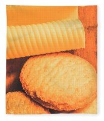 Delicious Cookies With Piece Of Butter Fleece Blanket