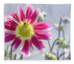 Delicious Dahlia Fleece Blanket