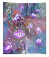 Delphinium Dream Fleece Blanket