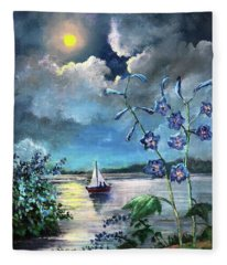 Delphinium Dreams Fleece Blanket