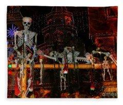 Dem Bones Fleece Blanket