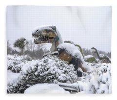 Demise Of The Dinosaurs Fleece Blanket